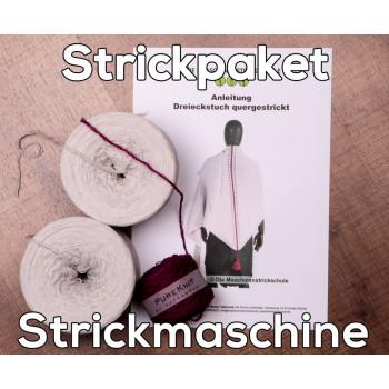Tuch Almstrick 1 - Wolle & Anleitung für Strickmaschine