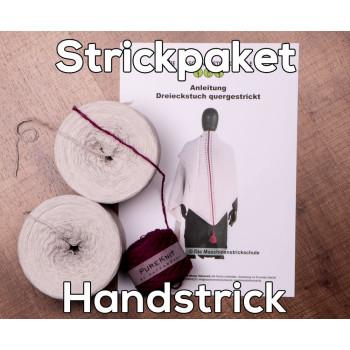 Tuch Almstrick 1 - Wolle & Anleitung zum Handstricken