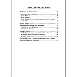 Anleitungsbuch Brother Doppelbett-Farbwechsler KRC-900